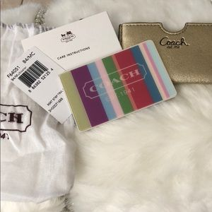 NWT Authentic Coach wallet mirror.